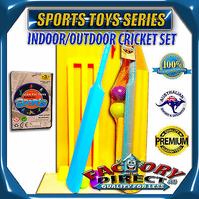 Sport Toys Series Plastic Cricket Set With Stumps & 2 Plastic Ball For Kids