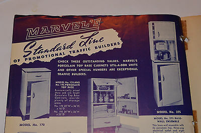 Vintage 1950 Metal Kitchen Cabinet Catalog/brochure With Price Sheet! Low Cost!