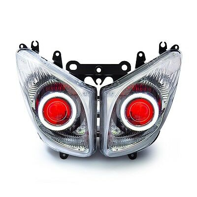 For Yamaha TMAX500 T-MAX 2008-2011 Headlight Assembly LED Angel Eyes Projector