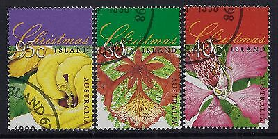 Christmas Island 1998 Christmas Set Of 3 Fine Used