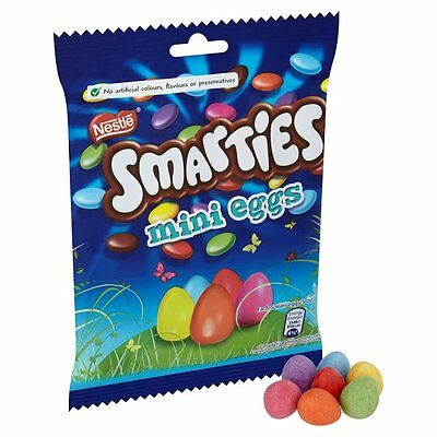 Smarties Mini Easter Eggs Pouch 100G