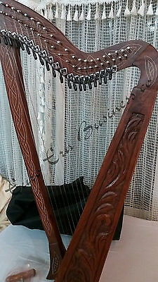 Irish 22 String Harp With Levers & Extra Strings & Carrying Bag By Euro Era
