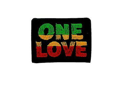 Patch ecusson brode thermocollant backpack rasta reggae ethiopie lion one love
