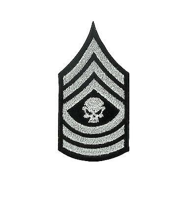 Patch ecusson brode thermocollant airsoft tactical militaire grade tete de mort