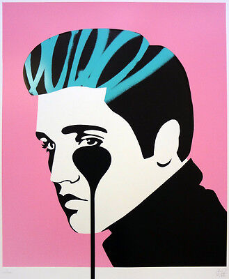 PURE EVIL - Pure Elvis King Creole - Screen print ed. 100 | Street art, graffiti