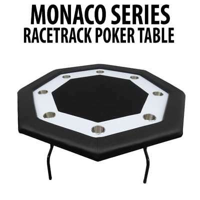Monaco Series Black Octagon 8 Player Poker Table