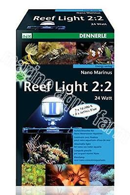 DENNERLE NANO MARINUS REEF LIGHT 2.2 36w, BLUE & WHITE, AQUARIUM MARINE CORAL