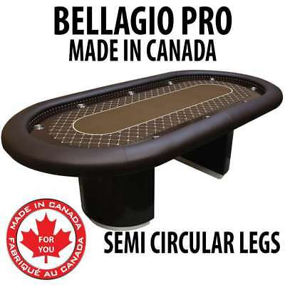 Bellagio Pro Texas Holdem Poker Table Wood Racetrack and Dye Sublimation felt