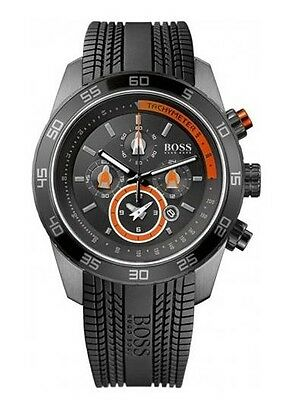 b02a31205 Hugo Boss Mens 1512662 Motorsports Chronograph Dial Rubber Strap Alarm Watch