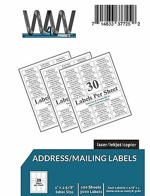 W4W 30-up Name and Address Mailing Labels Perforated