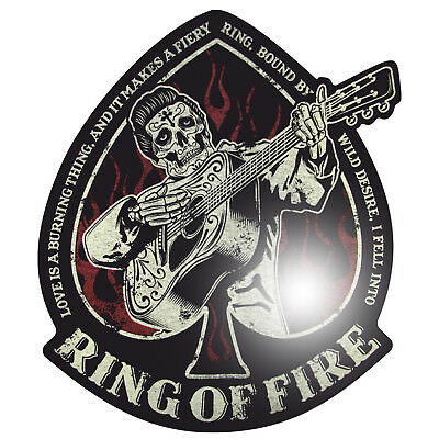 Oldschool Aufkleber Rockabilly Cash Ring on Fire Rock n Roll Sticker USA Retro
