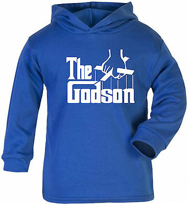 Baby Hoodie - Godson Kids Toodler Funny Gift Boy Girl Shower Christening