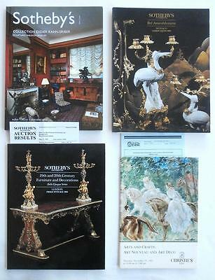 4 Auction Catalogs Christie's Sotheby's w/ Furnishings & Decorations NO RESERVE