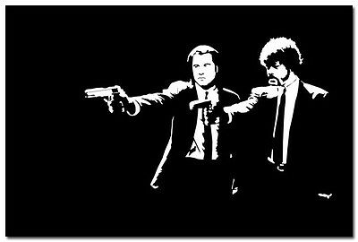 Pulp Fiction Movie Art Silk Poster 24x36inch Black And White