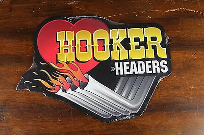 "18"" Hooker Headers Embossed Metal Sign Holley Performance Products Mancave Race"