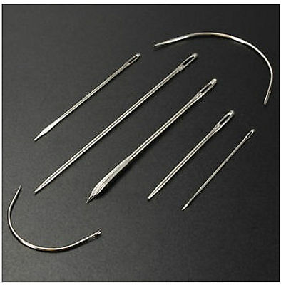 7pc Sewing Needles Repair Kit Upholstery Carpet Leather Curved Canvas UK SHOP