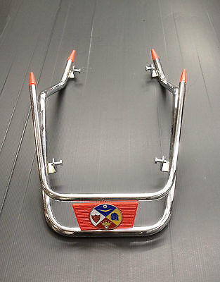 Front mudguard bars in chrome with RED trim for Vespa PX & LML Star by Cuppini