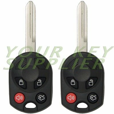2 New Replacement Remote Head Key Keyless Entry Key Fob 80 Bit 4 Button