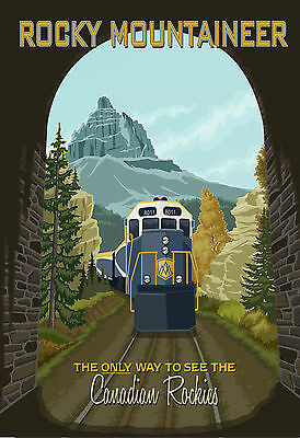 Rocky Mountaineer, Poster,a5 Size,vintage Style, Metal Sign,562