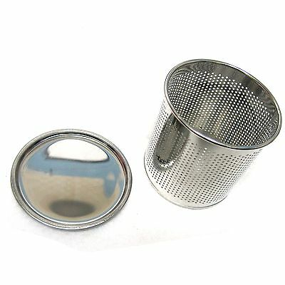 New Stainless Steel Perforated Cylinder Basket With Water Drain Tray For Cutlery