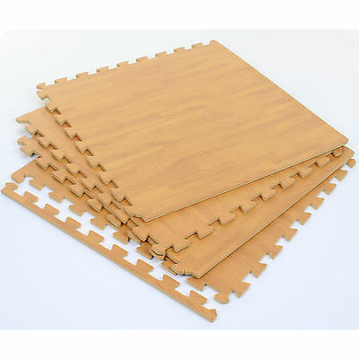 Interlocking Eva Soft Foam Mats Floor Mat Wood Effect Play Exercise Gym Garage