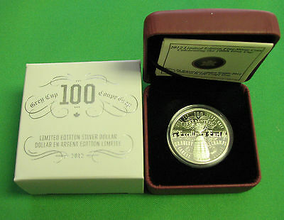 Canada 2012 limited Edition celebrating the 100th Grey Cup silver Cao and Box