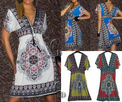 WHOLESALE BULK LOT OF 10 MIXED COLOUR Size V-Neck Dress Beach Cover Up dr064