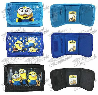 Minions Bob Kevin & Stuart Kids Tri-Fold Wallet Coin Purse Bag