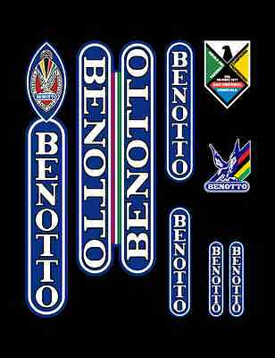 Vintage Benotto Frame Decals Transfers Autocollants for your Campagnolo Ride