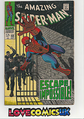 The Amazing Spider-Man #65 Silver Age Marvel Comics