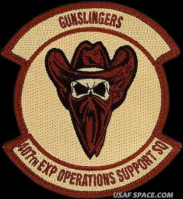 USAF 407th EXPEDITIONARY OPERATIONS SUPPORT SQ - GUNSLINGERS - ORIGINAL PATCH