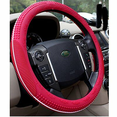 ASJ Natural Silicone Candy-colored Steering Wheel Cover