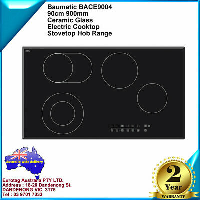 EUROTAG 900MM / 90CM S/S Gas Cooktop With Heavy Duty Cast Iron And WOK BURNER