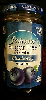 Polaner Sugar Free with Fiber Blueberry preserves 13oz
