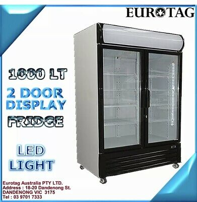 EUROTAG 208L 2 DOOR stainless steel UNDER BENCH BACK BAR DISPLAY FRIDGE