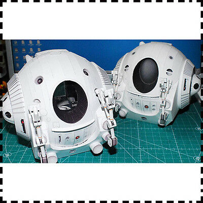 """Film 2001 A Space Odissey One Man Space Capsule Pod Paper Model Kit 15cm=6"""" Tall"""