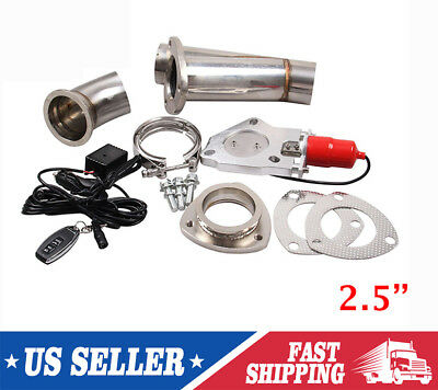 """Kylin 2.5""""Electric Exhaust+Remote Downpipe Cutout E-Cut Out Valve System Kit Red"""