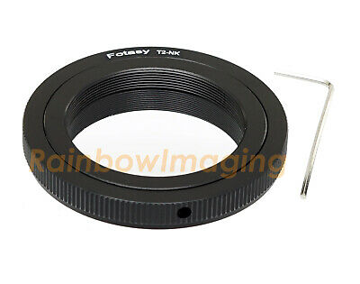 T2 T Ring Mount lens to Nikon D7000 D7500 D7200 D5100 D5300 Adapter US Seller