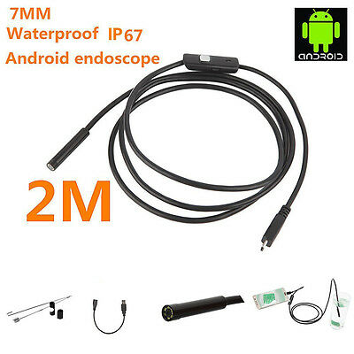 7mm Android Endoscope Waterproof USB Inspection Snake Tube Camera 2.0 M
