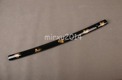 "30"" Black&Gold Scabbard Saya Sheath For Japanese Katana Samurai Swords' Protect"