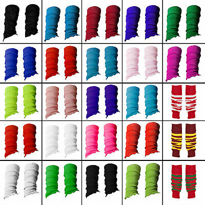 Childrens Colourful Neon Leg Warmers For Girls Boys One Size Made In UK