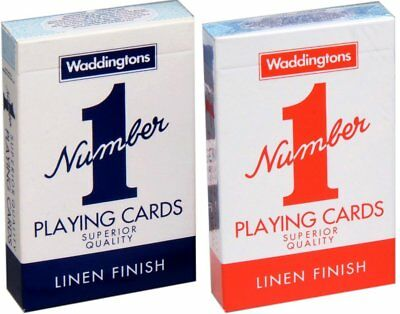 """Waddingtons """"Number 1"""" Playing Cards Pack of two"""