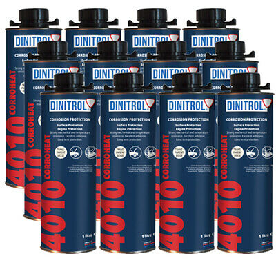 12 X DINITROL 4010 HIGH TEMPERATURE RUST PROOFING ENGINE COATING WAX 1Litre