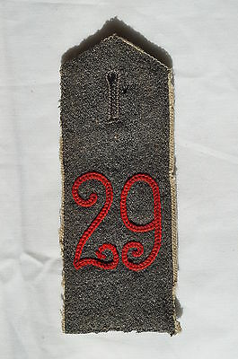 WW1 Imperial German 29th 3rd Rhenish Infantry von HornFeldgrau Shoulder Strap