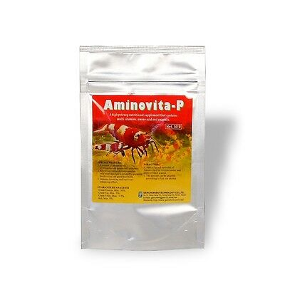 Genchem Aminovita-P 50g Nutrition Enhance Immune-boosting for Crystal Bee Shrimp
