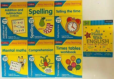 Early Learning Literacy & Numeracy Workbooks PreSchool Ages 3-5 EYFS set of 9