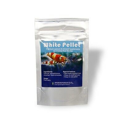 Genchem White Pellet 50g Calcium Minerals Supplement Improve Molting for Shrimp