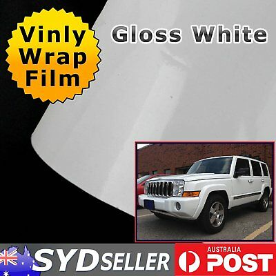 Gloss White DIY Vinyl Film Sheet Wrap Car Sticker Decals Adhesive Roll OZ Seller