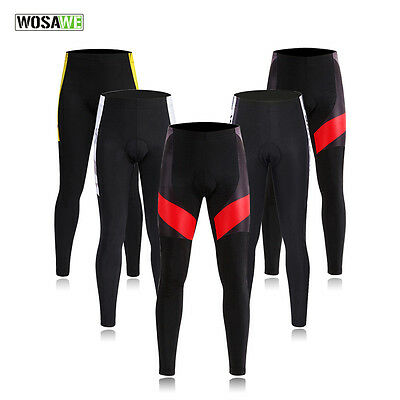 Mens Cycling Pants Casual Bicycle Bike Tights Riding Sports Long Trousers Padded