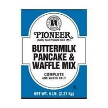 Pioneer Buttermilk Pancake and Waffle Mix, 5 Pound -- 6 per case.